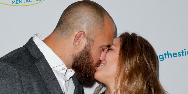Travis Browne and Ronda Rousey. Photo / Getty Images.