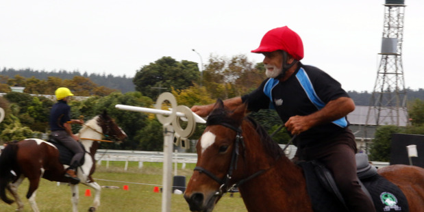 Seventy-year-old Aucklander Hans Notter riding Knight finished third in the veteran class at the National Individual Mounted Games Championships in Whanganui over Easter Weekend.