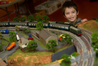 FUN: Lucien Black, 6, enjoyed checking out all the model train layouts at the show. PHOTO/BEN FRASER