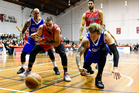 Wellington Saints power forward Josh Duinker (right, foreground) had opportunities to play for New Zealand but two other countries were his first priorities. Photo/Photosport