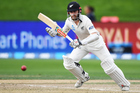 New Zealand captain Kane Williamson bats during the third test match against South Africa. Photo/Photosport