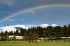 Whakarewarewa took on Whakatane Marist in front of a rainbow back drop at Puarenga Park. Photo/Ben Fraser
