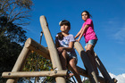 Eight-year-old twins Jaya and Ila Patel have won a decision to bring back monkey bars, not just this