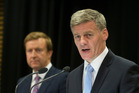 Prime Minister Bill English, right, and Health Minister Jonathan Coleman, announcing the $2 billion pay equity package for carers. Photo / Mark Mitchell