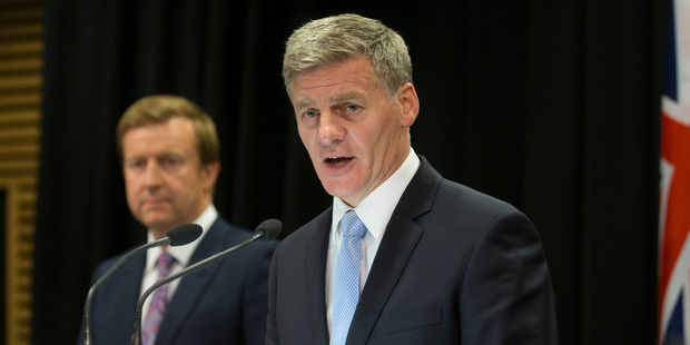 Loading Prime Minister Bill English, right, and Health Minister Jonathan Coleman, announcing the Government's $2 billion pay equity package during their post-cabinet press conference. Photo / Mark Mitchell