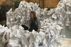 Designer Ella Mazrahi wants to build an entire stage set out of paper and needs your help. Photo / Supplied