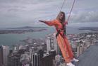 Brazilian TV celebrity Didi Wagner in New Zealand.