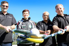 Whanganui hockey players Brett Smith, Michelle Low, Naomi Wilson and John Wilson are preparing for the Trans-tasman Masters Challenge in Whangarei. Photo/ Stuart Munro