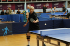Sir Peter Snell competes in the World Masters Games in table tennis. Photo/Bridget Van Gessel, CMG Sports