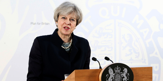 "Last week British Prime Minister Theresa May accused Moscow of being on the ""wrong side of this argument"" by failing to condemn a chemical attack in Syria. Photo/AP"