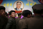North Koreans have been busy marking the 105th anniversary of the birth of founding ruler Kim Il Sung. Photo / AP