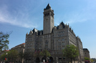 The clock tower at the Old Post Office, a historic building in Washington DC where the Trump International Hotel is located. Photo / AP