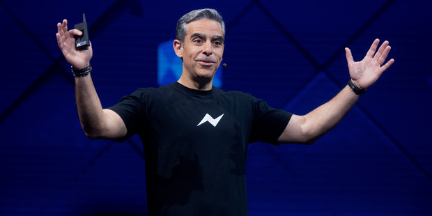 David Marcus, Facebook vice president for messaging products, speaks at his company's annual F8 developer conference. Photo / AP