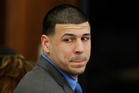 FILE - In this Friday, April 14, 2017, file photo, Former New England Patriots tight end Aaron Hernandez turns to look in the direction of the jury. Photo / AP