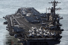The aircraft carrier USS Carl Vinson. Photo/AP