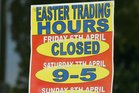 The laws surrounding Easter trading are