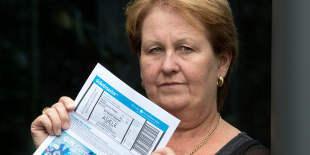Deborah Light purchased Adele concert tickets for 922.88 AUD, but when she got the tickets, it had a face value of $102.20 NZD and under a different name. 20 March 2017 New Zealand Herald Photograph