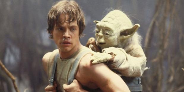 Luke Skywalker training with Yoda in Star Wars: Episode V - The Empire Strikes Back. Photo / Supplied