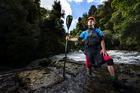 Top New Zealand extreme whitewater kayaker, Ryan Lucas at the powerhouse rapids on the Kaituna River, Rotorua. Photo / Nick Reed
