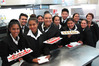 QRC hospitality management students with another round of canapes for the guests. PHOTO / Peter de Graaf
