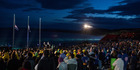 Australians and New Zealanders attend the Dawn Service as part of the ANZAC Commemorative Service on April 25, 2016 in Eceabat, Turkey. Photo / Getty Images