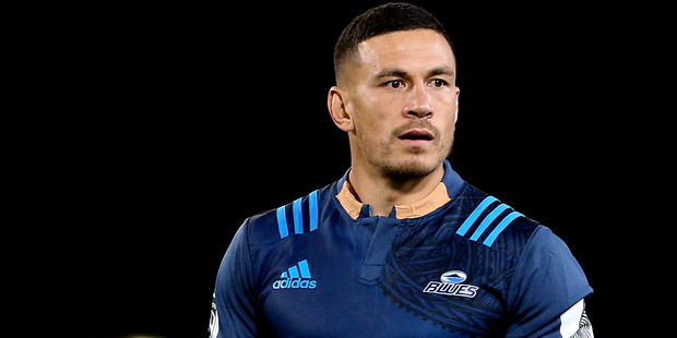 Sonny Bill Williams of the Blues looks on during the Super Rugby match against the Highlanders. Photo/Getty Images