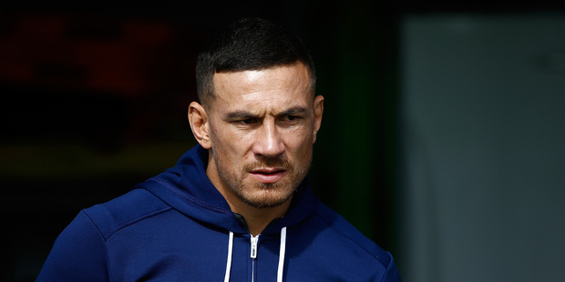 Mr Gould went further than Mr Robertson to praise Sonny Bill Williams' highly negative attitude to banks in general. Photo / Getty Images
