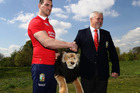 Sam Warburton with head coach Warren Gatland during the British and Irish Lions tour squad annoucement. Photo/Getty Images