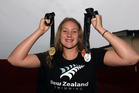 Bobbi Gichard with her haul of medals from the New Zealand Open championship. Photo/Paul Taylor