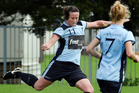 Northland FC's Casandra Wood lines up a shot. Photo/Tania Whyte