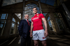 Warren Gatland (head coach) and Sam Warburton (captain). Photo / Photosport.