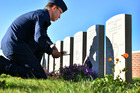 LEST WE FORGET: Leading Aircraftman Dan May meets his great-great-uncle Arthur Harry