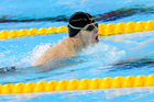 Cameron Leslie of New Zealand wins gold in the Men's 150m IM at the Rio Paralympic Games. Photo/Photosport