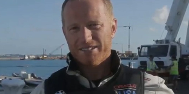 Loading Jimmy Spithill has been flung overboard in the latest America's Cup training drama in Bermuda. Photo / Twitter.