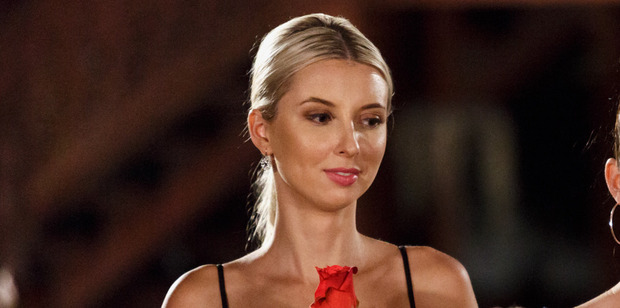 Loading Karina Grant's relationship with Bachelor host Dominic Bowdon caused tension on the set of the show.