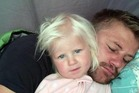 Rudy Bruynius and his daughter McKayla, who died after being swept out to sea at Fistral Beach in Cornwall. Photo / Devon and Cornwall police