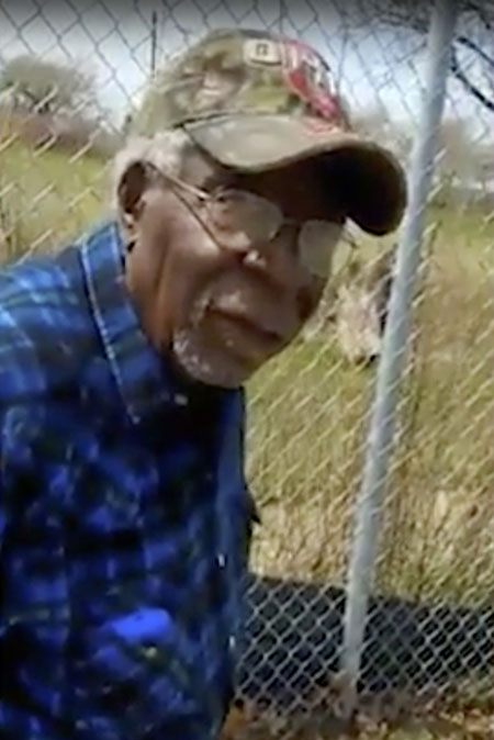 A frame from video posted on Facebook shows Robert Godwin Sr in Cleveland moments before being fatally shot. Photo / AP