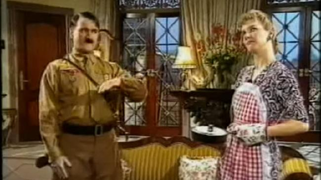 Eva and Adolf at home.Source:YouTube