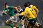 Ireland's Jared Payne on the attack against Australia. Photo/Photosport