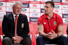 Lions head coach Warren Gatland and captain Sam Warburton. Photo / Photosport