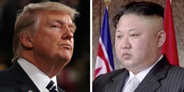 Loading We've got two men with fragile egos and bad haircuts who are both prone to hasty responses and both have access to nuclear weapons. Photos / AP