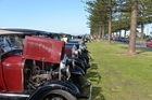Some of the many Model A vehicles on display on Marine Parade at the weekend.