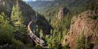 The Rocky Mountaineer train in British Columbia, Canada.