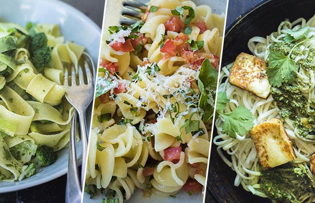 Geoff Scott's pasta dishes. Photos / Bite magazine