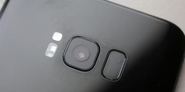 The camera sits almost flush against the phone. Photo/AP