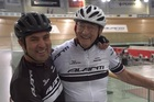 Michael van Enter and Reg Rye complete another training session at Cambridge Avantidrome, in preparation for World Masters Games. Photo/NZ Herald Focus