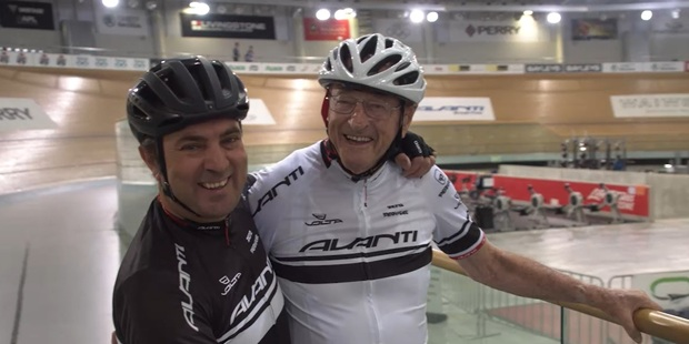 Loading Michael van Enter and Reg Rye complete another training session at Cambridge Avantidrome, in preparation for World Masters Games. Photo/NZ Herald Focus