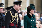 Kate, The Duchess of Cambridge and Prince William, The Duke of Cambridge during St. Patrick's Day Parade at the Cavalry Barracks in London. Photo / AP