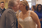 Mark Benson and Anne Mousley tied the knot at the Spam Museum in Austin, Minnesota. Photo/Caters