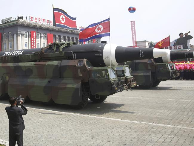 North Korea shows off its military might during a parade. Photo/AP